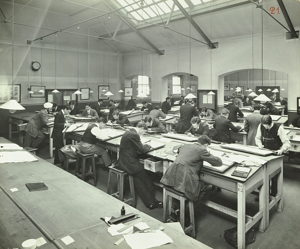 20th Century Style「Drawing Class, University College, London, 1912. Artist: Unknown.」:写真・画像(3)[壁紙.com]
