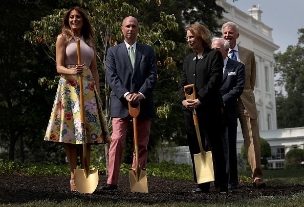 Tree「First Lady Melania Trump Plants A Sapling Of The Eisenhower Oak On South Lawn Of White House」:写真・画像(17)[壁紙.com]
