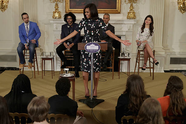 """Michelle Obama Hosts Cast Of Broadway's """"Hamilton"""" At The White House:ニュース(壁紙.com)"""