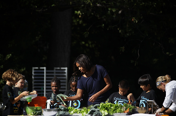 Salad「First Lady Michelle Obama Hosts Students For The Fall Harvest Of The White House Kitchen Garden」:写真・画像(10)[壁紙.com]
