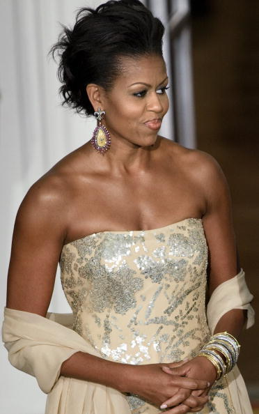 Evening Gown「Obamas Host Indian Prime Minister Singh At The White House」:写真・画像(9)[壁紙.com]
