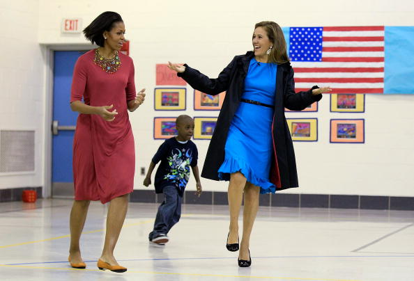 Maryland - US State「Michelle Obama And Mexican First Lady Visit Elementary School In Maryland」:写真・画像(8)[壁紙.com]