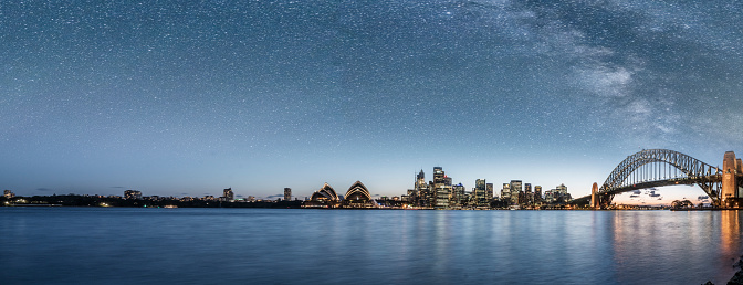 Sydney Harbor Bridge「Sydney harbor at a starry night」:スマホ壁紙(9)