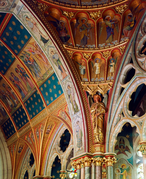 Ceiling「Decorated roof of the sanctuary, St Mary's Church, Studley Royal, North Yorkshire, c2000s(?)」:写真・画像(15)[壁紙.com]