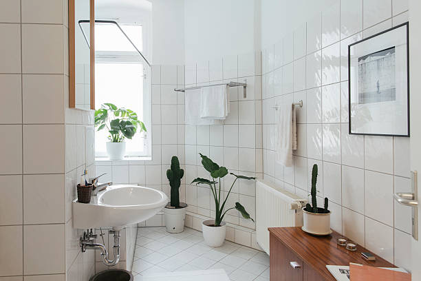 Minimalist white bathroom:スマホ壁紙(壁紙.com)