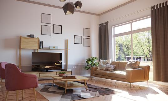 Sun「Minimalist Living Room Interior」:スマホ壁紙(17)