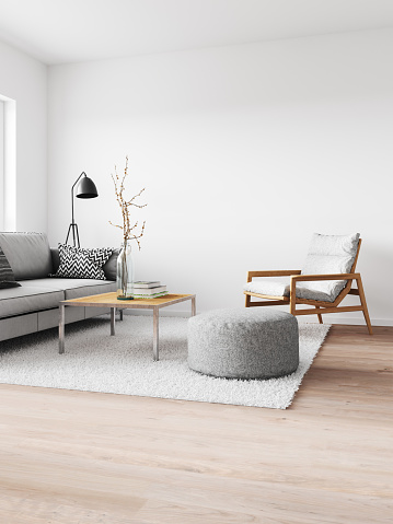 Gray Color「Minimalist modern interior」:スマホ壁紙(12)