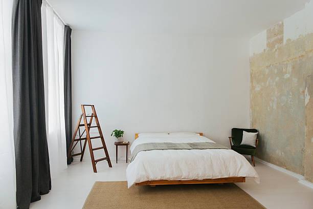 Minimalist Scandinavian design bedroom:スマホ壁紙(壁紙.com)