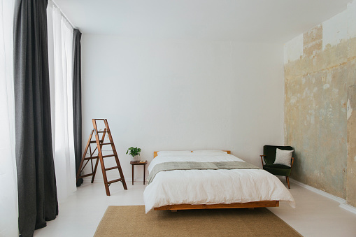 Clean「Minimalist Scandinavian design bedroom」:スマホ壁紙(14)