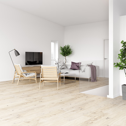 Steps and Staircases「Minimalist living space」:スマホ壁紙(18)