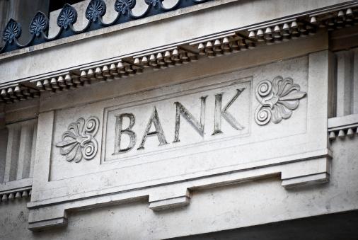 Banking「Bank sign on building」:スマホ壁紙(11)