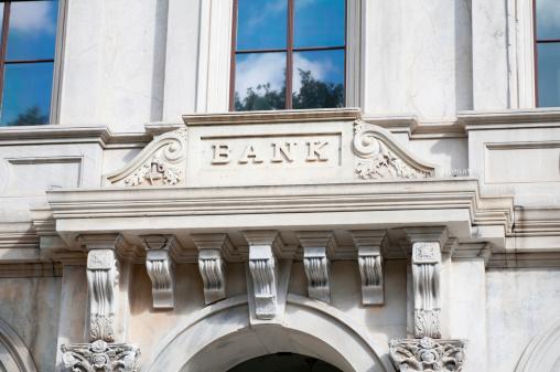 Banking「Bank sign on marble facade」:スマホ壁紙(11)