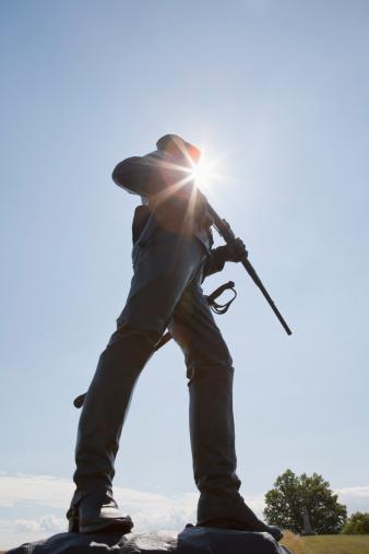 Battle「2nd Pennsylvania Cavalry statue, Gettysburg, PA」:スマホ壁紙(9)