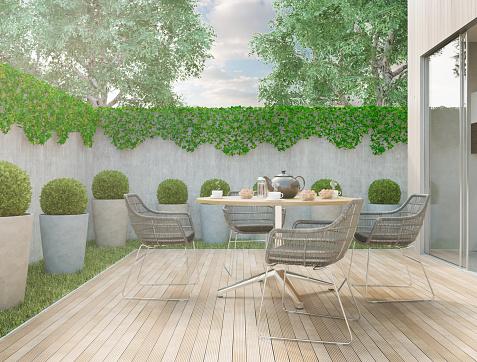 Green Color「Modern backyard」:スマホ壁紙(15)