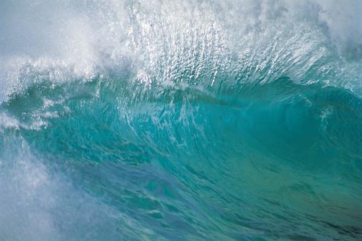 波「Crashing Wave, Oahu, Hawaiian Islands, USA」:スマホ壁紙(7)