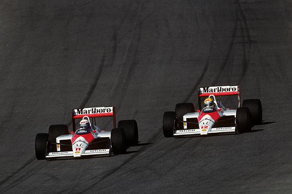 Alain Prost「Alain Prost, Ayrton Senna, Grand Prix Of Portugal」:写真・画像(5)[壁紙.com]