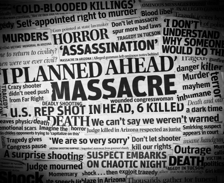 Murder「Arizona Shooting headlines Collage」:スマホ壁紙(12)