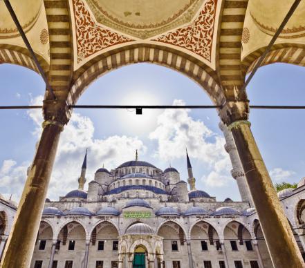 Islam「The Blue Mosque seen from the Inner Courtyard.」:スマホ壁紙(18)