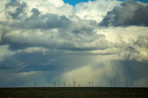 Generator「Storm clouds over wind turbines in rural landscape」:スマホ壁紙(5)