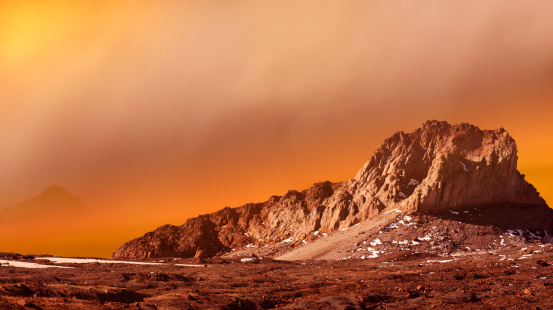 Digital Composite「Dust Storm On The Surface Of Mars.」:スマホ壁紙(1)