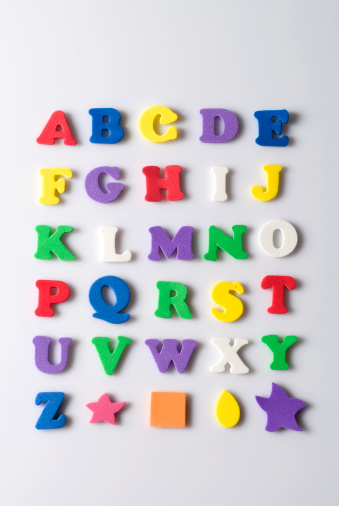 Alphabet「Rubber letters and shapes on white background」:スマホ壁紙(9)
