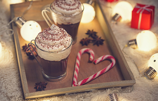 Candy Cane「Hot Chocolate in a cozy Christmas atmosphere」:スマホ壁紙(19)
