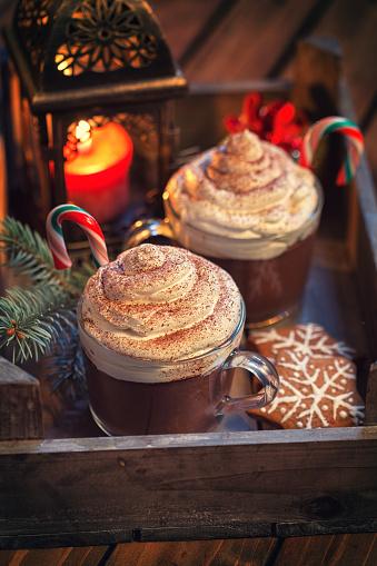 チョコレート「ホットチョコレートをクリスマス」:スマホ壁紙(12)