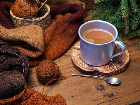 スカーフ「素朴なマグカップでホット チョコレート」:スマホ壁紙(6)