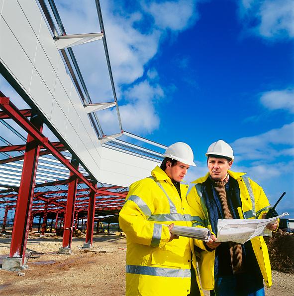 Caucasian Ethnicity「Executives inspecting a construction site.」:写真・画像(14)[壁紙.com]