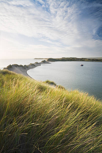 View from Crow Point of The Neck and Braunton Burrows. Devon. England. UK.:スマホ壁紙(壁紙.com)
