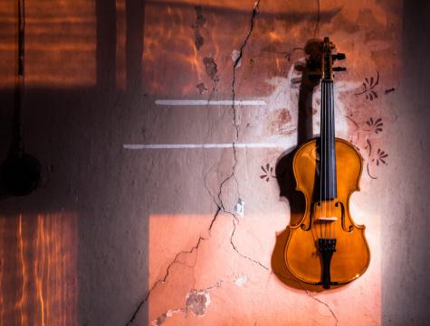 Violin「Violin on the wall」:スマホ壁紙(18)