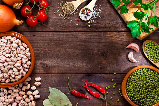 Recipe「Legumes and ingredients border」:スマホ壁紙(3)