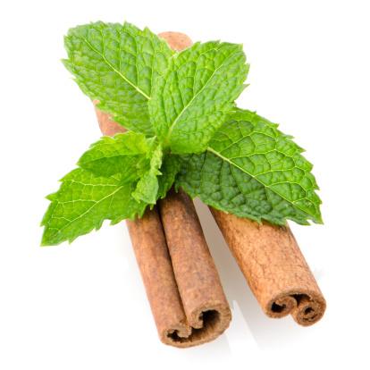Bergamot「Cinnamon sticks and mint leaves」:スマホ壁紙(13)