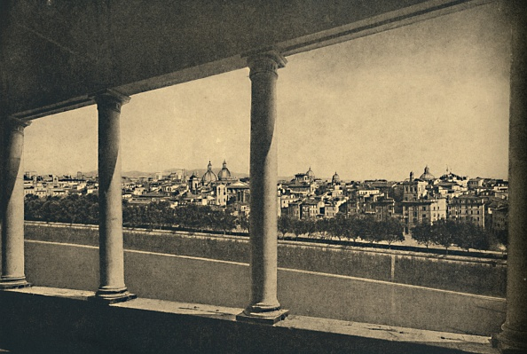 Copy Space「Roma - View Of The City From The Logia By Bramante In Castle St Angelo 1910」:写真・画像(15)[壁紙.com]