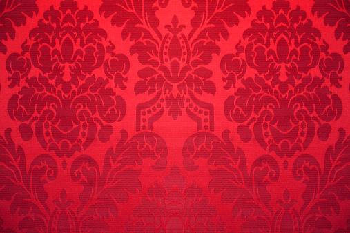 花柄「レッドのシルクの壁紙で装飾」:スマホ壁紙(8)