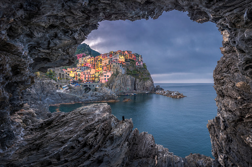 Atmospheric Mood「Italy, Liguria, La Spezia, Cinque Terre National Park, Manarola」:スマホ壁紙(0)