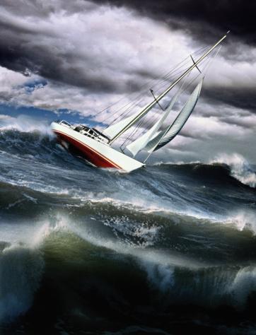 Sailboat「Sailing-boat on stormy sea (Digital Composite)」:スマホ壁紙(9)