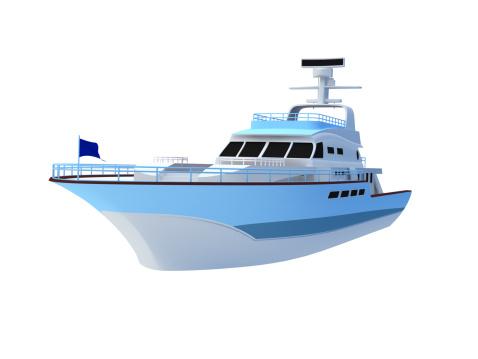 Motor Yacht「Yacht illustration on white background」:スマホ壁紙(15)