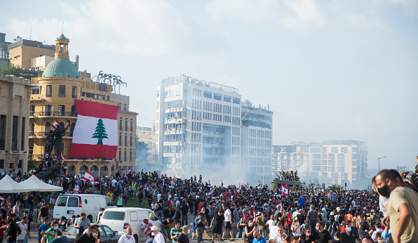 Beirut「Beirut's Anti-Government Protests Reignited By Port Explosion」:写真・画像(10)[壁紙.com]