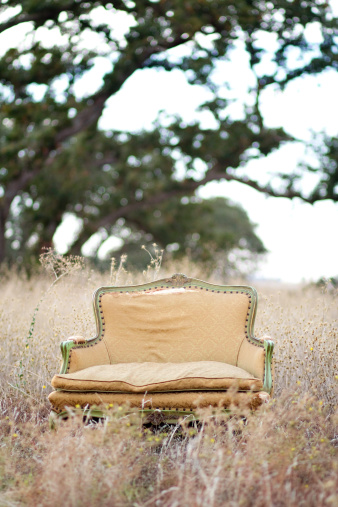 Loveseat「Abandoned Loveseat in Meadow」:スマホ壁紙(2)