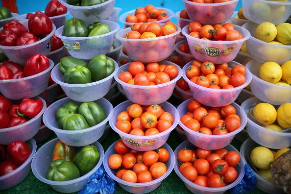 野菜・フルーツ「Seven-A-Day Fruit And Vegetables Recommended Intake」:写真・画像(1)[壁紙.com]