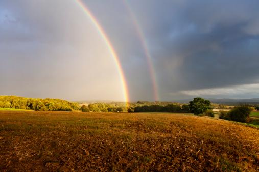 Rainbow Arch「rainbow in rural setting」:スマホ壁紙(5)