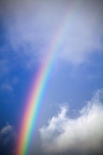虹「A rainbow in front of storm clouds」:スマホ壁紙(6)