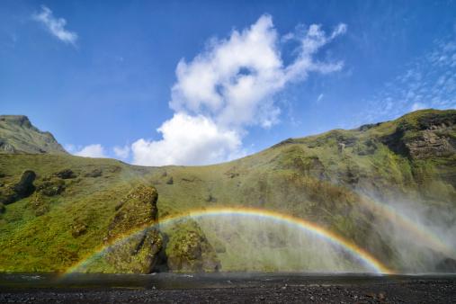 虹「レインボーのしぶきスコーガフォスにアイスランド」:スマホ壁紙(15)