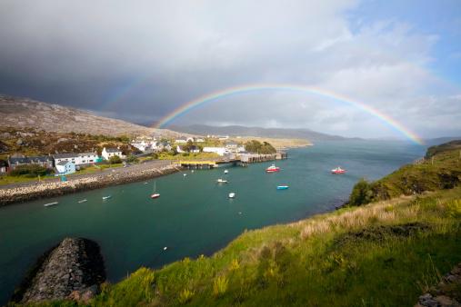 Double Rainbow「Rainbow in the Outer Hebrides: Tarbert, Isle of Harris」:スマホ壁紙(0)