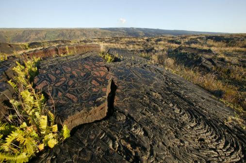 Basalt「Pahoehoe lava deposit, Hawaii, USA」:スマホ壁紙(18)