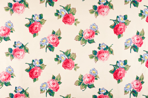 Floral Pattern「Flower Toss Antique Floral Fabric」:スマホ壁紙(19)