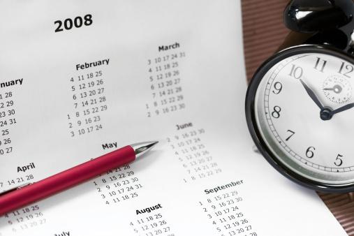 2008「Calendar, clock and pen」:スマホ壁紙(19)