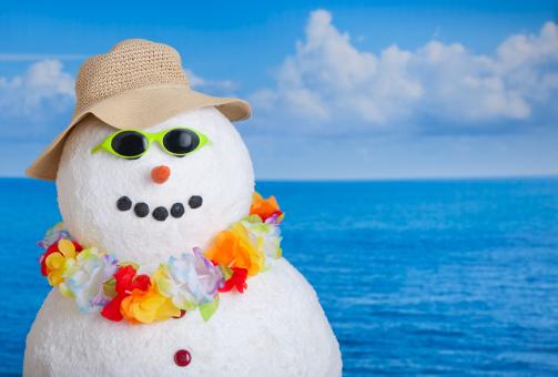 雪だるま「Snowman at sea」:スマホ壁紙(1)