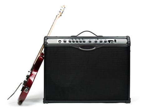 ロックミュージック「ギターとアンプ」:スマホ壁紙(16)